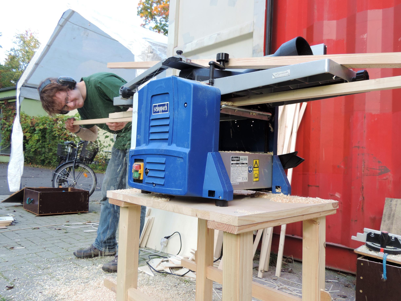 Holzwerkstatt im Parkclub