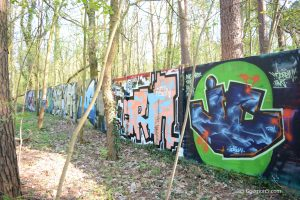 Graffiti am Parkclub