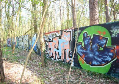 Graffiti am Parkclub