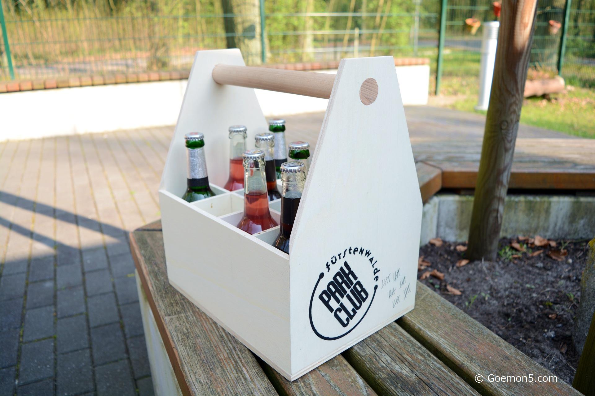 Bierkasten Parkclub aus Holz