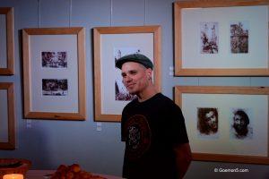 Christian Köckeritz hat schon viele Ausstellungen im Parkclub begleitet, und weiß immer etwas interessantes zu erzählen.