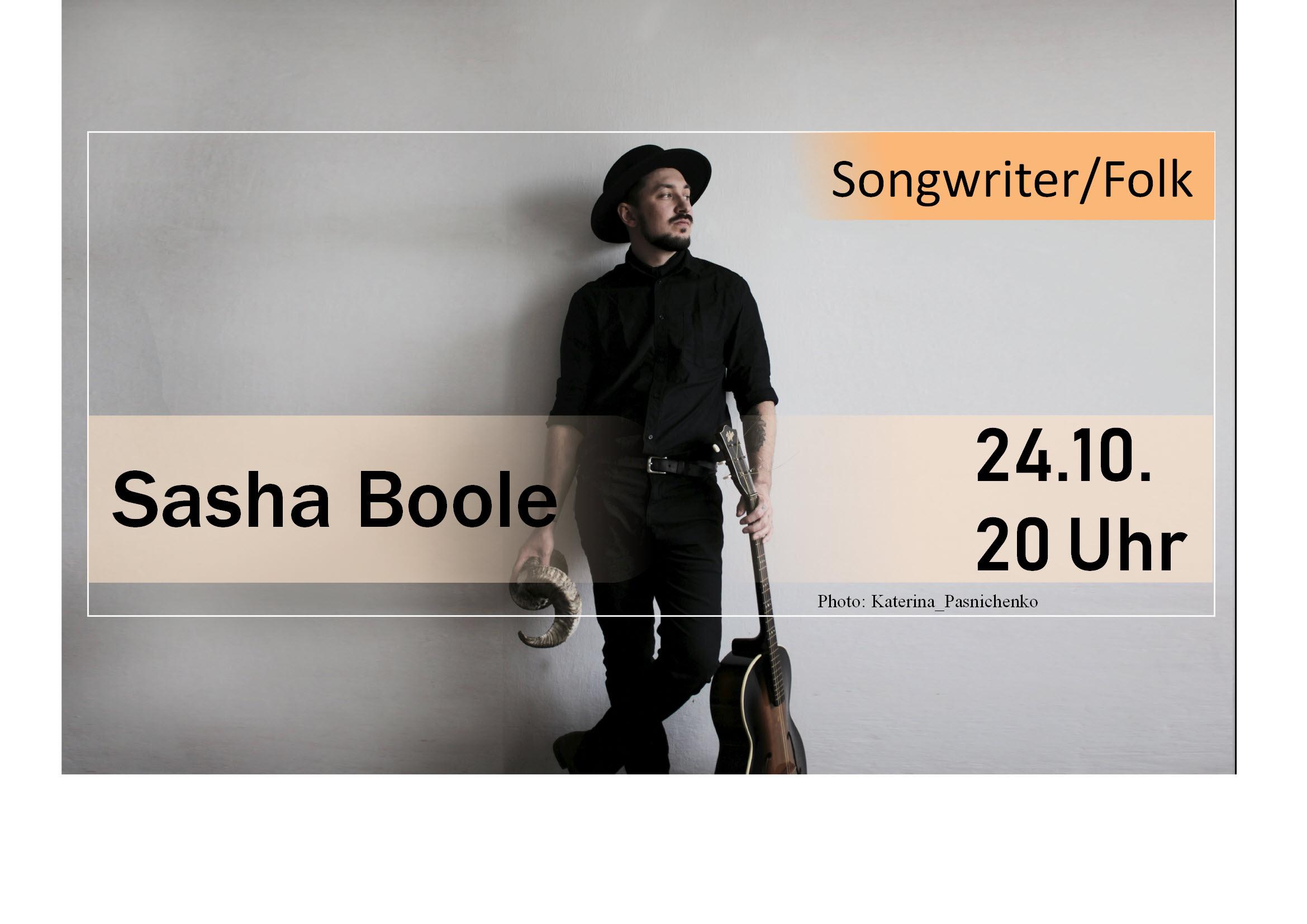 Sasha Boole - Folk im Parkclub