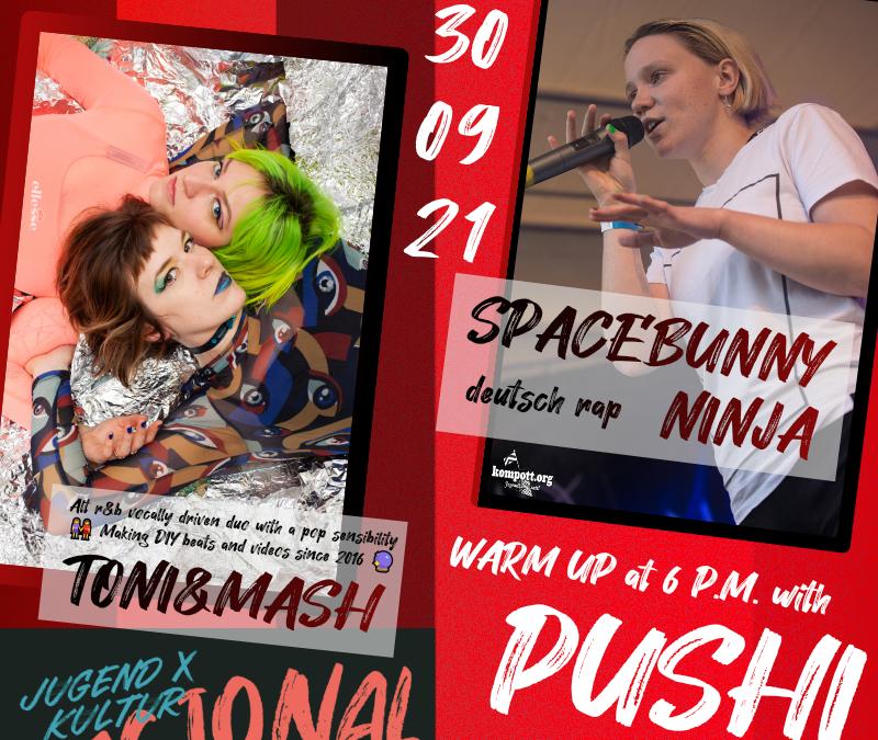 live Spacebunny Ninja w/ Toni & Mash & Kate Push & Armin Hollywood